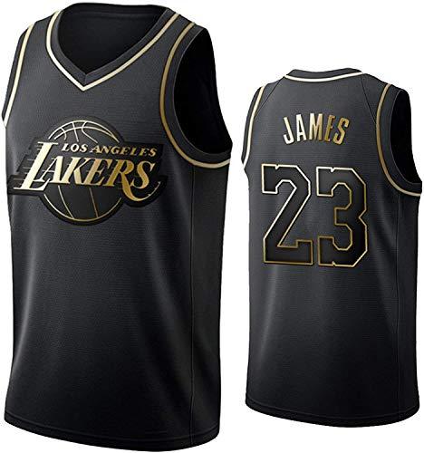 llp Jersey de Baloncesto para Hombre, edición Negra y Dorada, Camiseta sin Mangas de Moda, 23# James y 24# Kobe & 7# Durant & 11# Irving & 13# Harden & 77# DonCic & 0# Lillard # 34