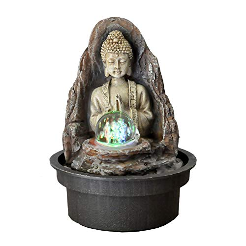 Zen'Light Fontaine Peace, Résine, Bronze, 15 x 15 x 21 cm