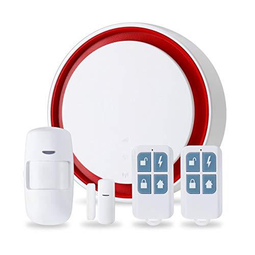 Tree-on-Life Smart WiFi + gsm Conjunto de Alarma multifunción de Red Dual Alarma antirrobo inalámbrica para Kits de Sistema de Alarma de Seguridad para el hogar