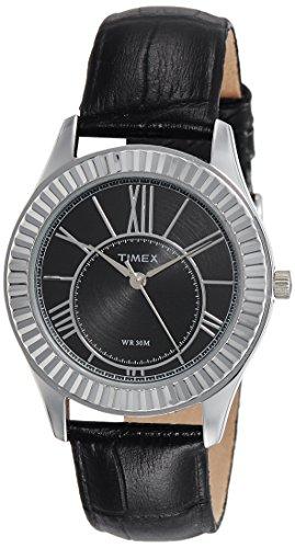 Timex - Reloj analógico para mujer, esfera negra