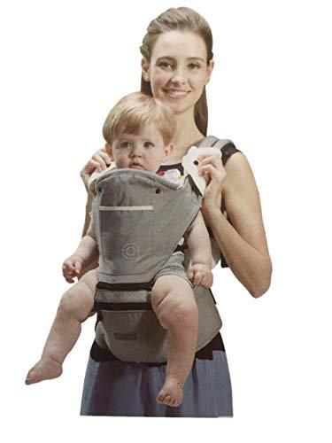 Lalia Ergonomische Baumwoll Babytrage Rücken mit Abnehmbarer Kapuze 5,5-15 kg 4-48 Monate- 3 Tragepositionen Tragetasche Tragetuch