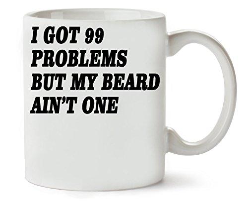 MugsWorld I Got 99 problem But My Beard Ain't One Slogan klassieke theekopje koffiemok