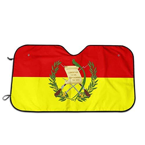 YAGEAD Parabrisas Sombrilla Bandera de Guatemala Ocio Coche Plegable Parabrisas Protección de Visera, Protector Solar Impermeable y a Prueba de Polvo 130 * 70CM