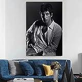 Sanguolun Cuadro En Lienzo Póster artístico de Lienzo con imágenes Raras de Al Pacino Scarface y póster de decoración de Dormitorio Familiar con impresión de Imagen artística de Pared 60x90cm