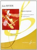 リヴィエ : グラーヴェとプレスト (サクソフォン四重奏) ビヨドー出版