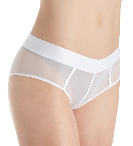DKNY Women's Sheers Hipster Panty, Dark White, Small