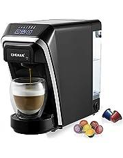CHULUX capsule koffiemachine 1400 W van 50 ml tot 260 ml 0,8L verwijderbare watertank met Nespresso en Dolce Gusto Multifunctionele capsulemachine voor het Schwarz kantoor