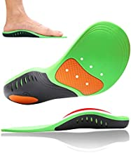 High Arch Support Insoles for Men and Women and Kids, Orthotic Shoe Inserts Relieve Plantar Fasciitis,High Arch,Flat Feet