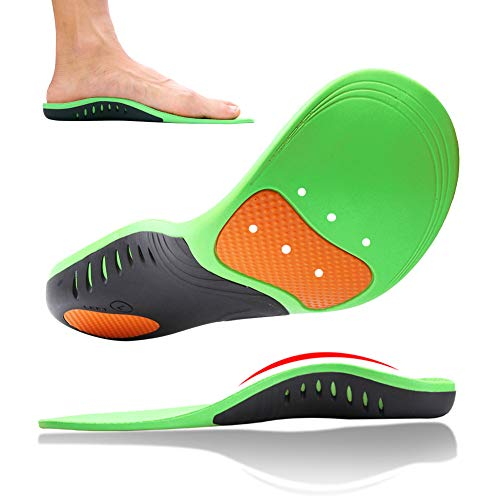 Plantar Fasciitis High Arch Support Insoles for Men and Women, Orthotic Shoes Insert for High Arch,Flat Feet,Heel Pain