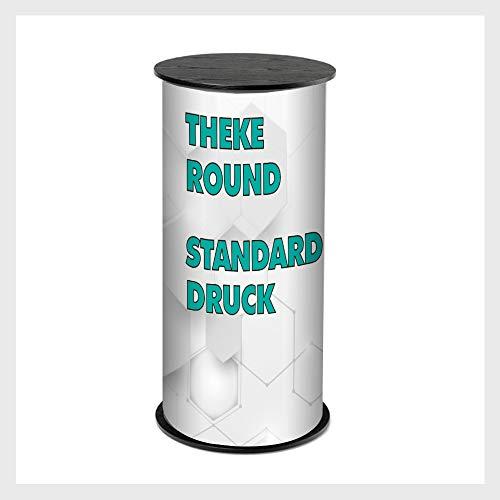 mobile Messetheke   ✓ Counter Round   ✓ Verkaufstheke   ✓ Messetisch   ✓ inkl. Druck/Messetisch