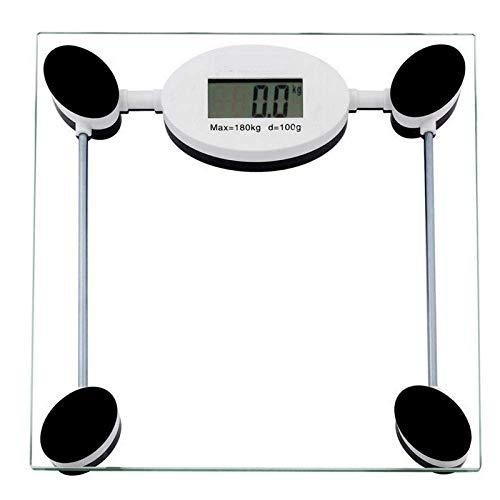 KANJJ-YU Con un Peso de Escala balanzas electrónicas Digitales, Escala de Peso Corporal electrónico, básculas de Salud Grasa Peso de la Dieta, báscula de baño, Peso Humana, 180kg Casa