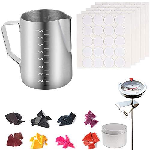 Bingxue Kit de herramientas para hacer velas, para manualidades, herramientas para hacer velas, velas y velas, apto para principiantes, moldes de velas, color plateado (60 mm x 30 mm)