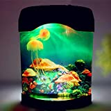 JYDNBGLS Medusas artificiales acuario tanque LED medusas lámpara de cambio de color efectos de luz USB Power Estado de ánimo Luz de noche regalo para niños hombres mujeres