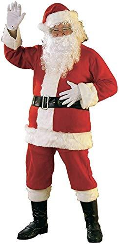 ROZZERMAN サンタクロース コスチューム 厚手 大人用 サンタ コスプレ 5点セット 7点セット 選べる 子供が大喜び間違いなし V5 (厚手5点セット)