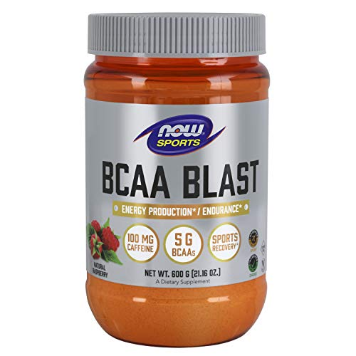 NOW Foods BCAA Blast Powder, Natural Raspberry, 700 g