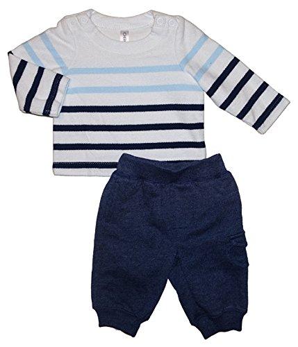 Cherokee Baby Girls 2 Piece Striped Sweater & Pants Outfit Set (Newborn)