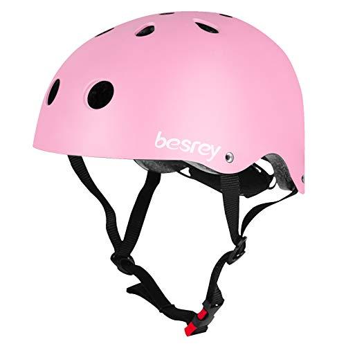besrey Fahrradhelm Kinder Helmet Kinderhelm CE-Zertifizierung Helm für 3-5 Jahren alt Kinder Junge für Sport wie Fahrrad Scooter Roller Inlineskaten Skateboard - Rosa