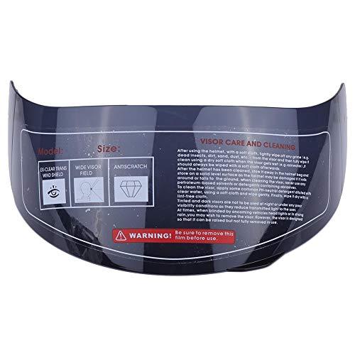 Lente de casco de motocicleta, reemplazo de parabrisas de lente de visera de casco para 316 902 AGV K5 K3SV (Marrón)