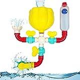 Becher's Bath Toys - Wasserspielzeug Badewanne | 11 Teile zum Zusammenbauen mit Spritzern, rotierendem Spray & Lernbehälter | Badespielzeug mit Saugnäpfen & Teilen für extra Stabilität & Dichtheit
