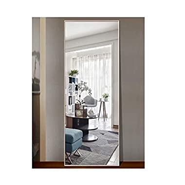 CrossROBBIN Thin Frame Floor Mirror (Maple, 65 x22 )