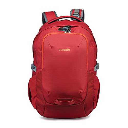 Pacsafe Venturesafe G3 25 Liter Anti Theft Travel Backpack/Daypack-Fits 15' Laptop, Goji Berry