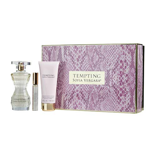 Sofia Vergara Tempting Eau De Parfum Spray, Rollerball And Body Lotion, 3 Pieces