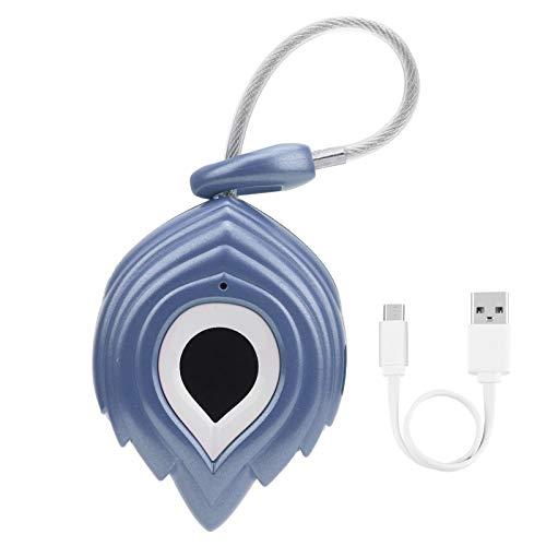 Fingerprint Cabinet Lock, Widely Used Smart Padlock, USB Charging No Key Practical for Home Locking Office Safe Protection(Blue)