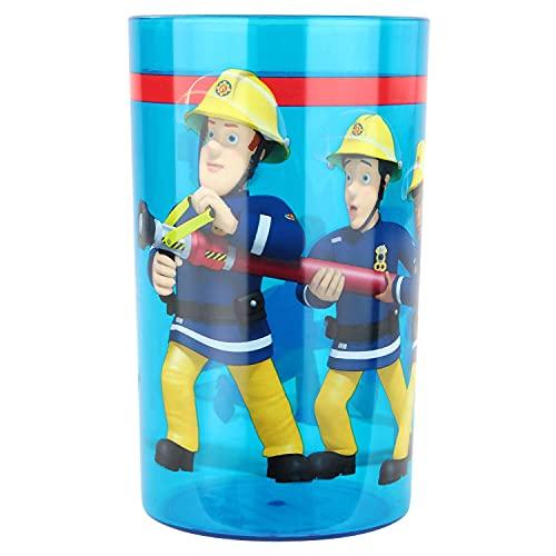 P:os 27117 – Verre en plastique au design Sam le pompier pour garçons et filles 250 ml
