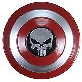 ABDOMINAL WHEEL Escudo del Capitán América Vengadores Marvel Escudo Metal 1:1 Versión de la Película Réplica de Marvel Prop,Cosplay Traje de Superhéroe Apoyos Escudo de Metal C,47CM