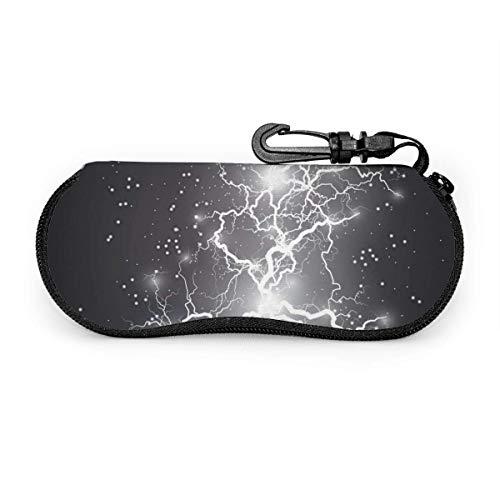 Arvolas Birght Efecto de luz Bola eléctrica Rayo Estuche portátil para anteojos...