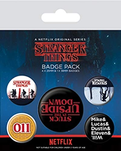 608911 - Stranger Things - Pin's/Badge - Upside Down (