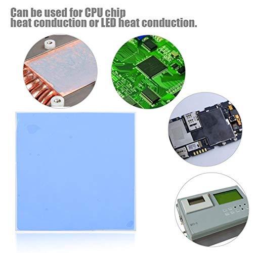 Warmtegeleidingsvermogen thermische pads, 100 mm x 100 mm x 3 mm CPU chip-koellichaam koel Thermal Conductive silicone topper, zacht, veilig, eenvoudig te gebruiken voor SSD CPU GPU LED IC-chipset koel -blauw