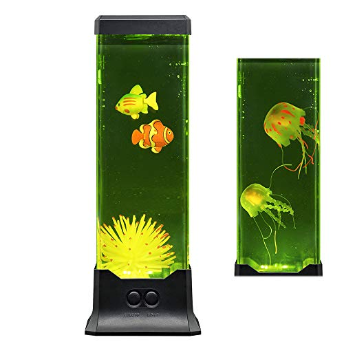 Multi Color Electric LED Lava Night Lamp - Fish Aquarium Mood Decorative Light -Fantastic Holiday Birthday Gift for Kids Family Friend her or him…