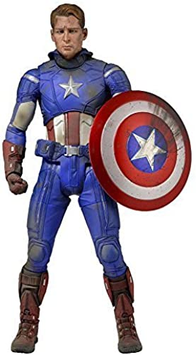 Avengers  Captain America  - Unmasked Battle Damaged - 1 4 Scale Action Figure by NECA