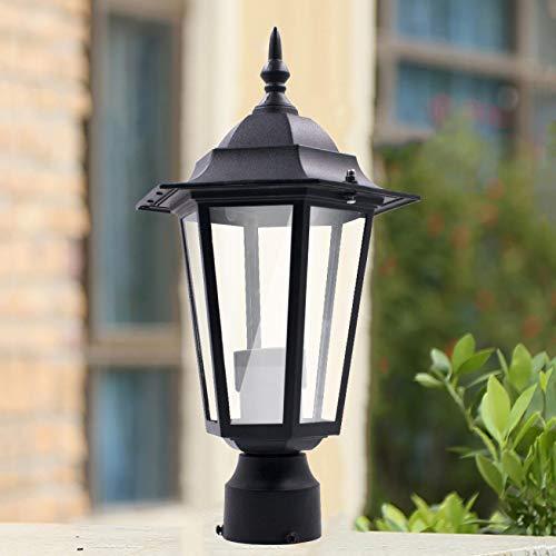 farol,Poste de luz de poste al aire libre, jardín, patio, entrada, patio, linterna, lámpara, accesorio, negro de Columna de Iluminación Exterior Tradicional jardín al aire libre poste de la lámpara