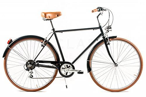 CAPRI Lucca Bicicleta, Adultos Unisex, Negro, Grande