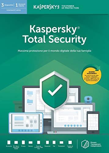 Kaspersky Total Security 2019 3 Dispositivi Codice d'attivazione via posta