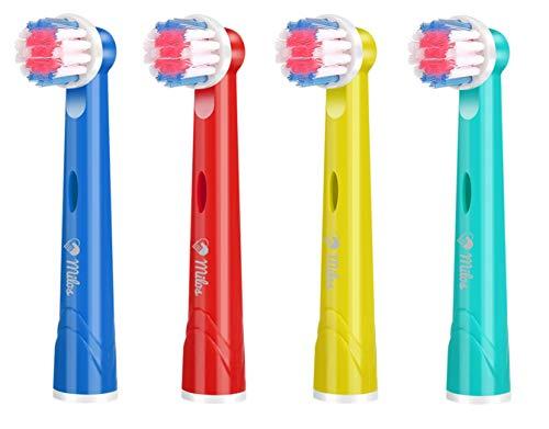 Cabezales de Recambio Oral B Infantil, Paquete de 4 Cabezales para Cepillo...