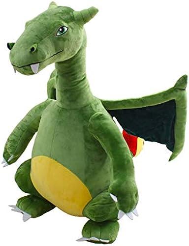 Brilliant firm Kissen Simulation Dinosaurier Puppe Feuer atmenden Drachen Plüschtier Tyrannosaurus Rex Puppe kreative Junge Geburtstagsgeschenk (Farbe   Grün, Größe   Height 140cm)