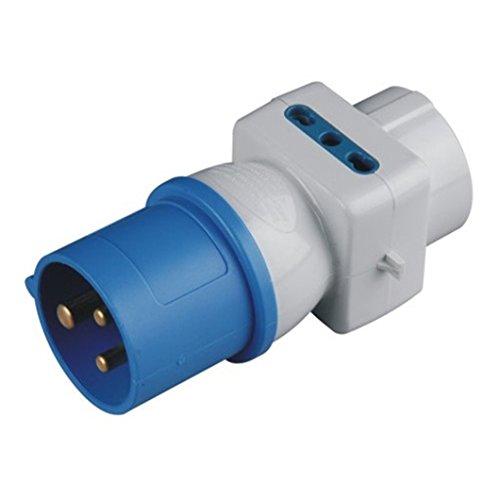 MAURER Adattatore Spina Cee-3 Prese Schuko 10/16A Materiale Elettrico Industriale