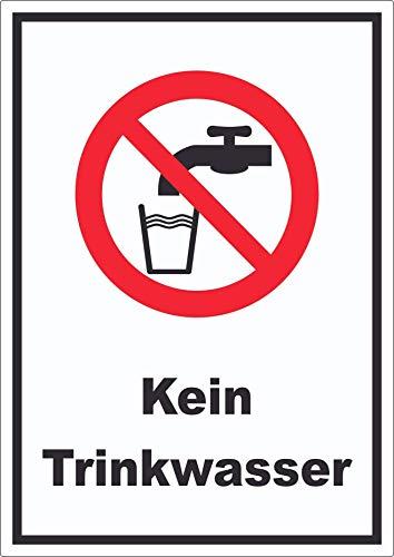 Kein Trinkwasser Aufkleber Nicht Trinken A7 (74x105mm)