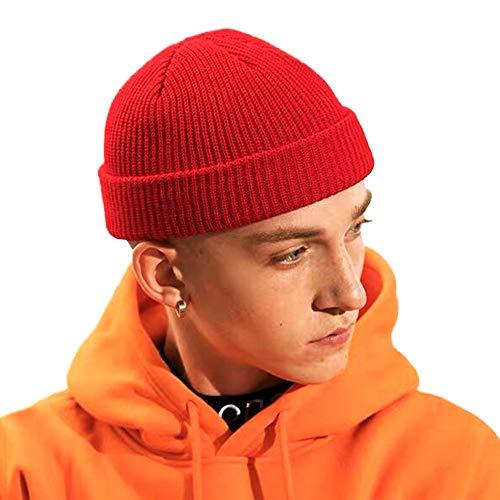 Clape Slouch Beanie Mütze Damen und Herren Streetwear Mütze Elastisch Unisex Strickmütze Basic Beanie