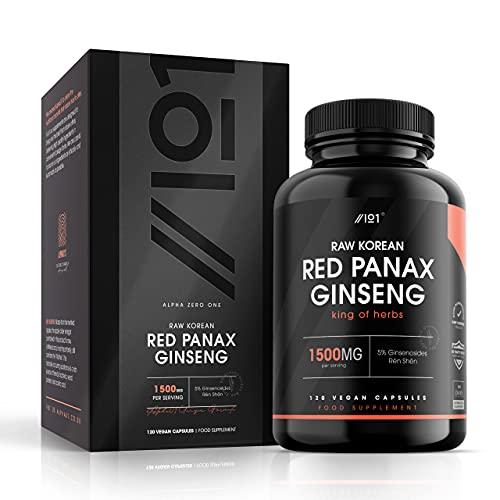 Korean Red Panax Ginseng Capsules - 1500mg - 20% Ginsenosides Rén Shēn...