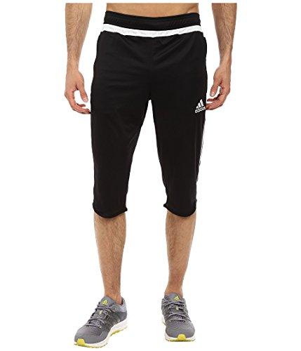 adidas Performance Men's Tiro 15 Three-Quarter Pants, Black/White/Black, Small
