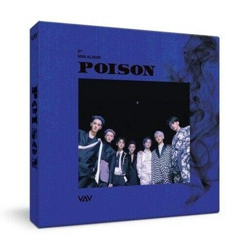 VAV 'Poison' 5th Mini Album CD+Folding Poster/On+88p PhotoBook+1p PhotoCard+Message PhotoCard Set+Tracking Kpop Sealed