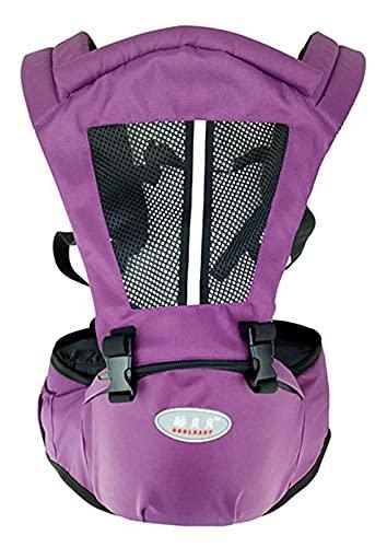 HLD Mochilas portabebé Portador de bebé Multifuncional con Taburete de Cintura Transpirable de Doble Hombro Portador de Hombro fácil de Salir, Portador de bebé Ajustable Mochilas portabebé