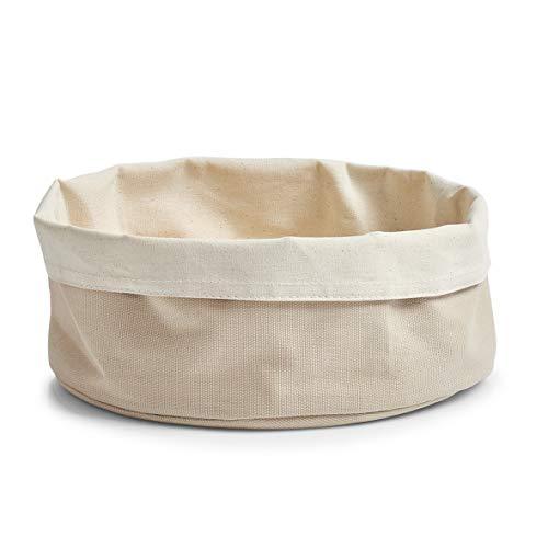 Zeller 18005 Corbeille à Pain Ronde, Coton, crème, 25 x 25 x 1 cm