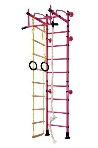 Niro Sportgeräte Klettergerüst Indoor FitTop M2 für Kinder Sprossenwand Turnwand Kletterwand inkl. Turnausrüstung
