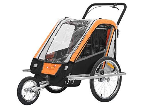Fiximaster multifunktion 2 in 1 Fahrradanhänger/Jogger Babywagen Transportwagen Handwagen Orange BT503 NEU