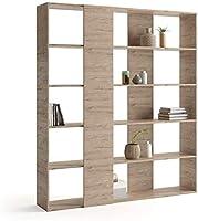 Mobili Fiver, Bibliothèque, Rachele, en mélaminé, Chêne, 179 x 33 x 204 cm, Mélaminé, Made in Italy